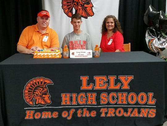 Lely High School's Cody Webb signed to play lacrosse at Tusculum on Wednesday, Nov. 15, 2017.