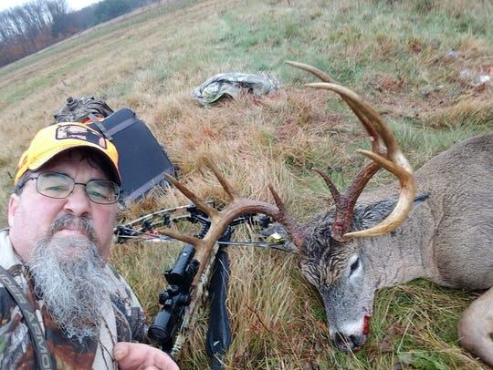 Mike Geib from Carlisle with a buck he shot.