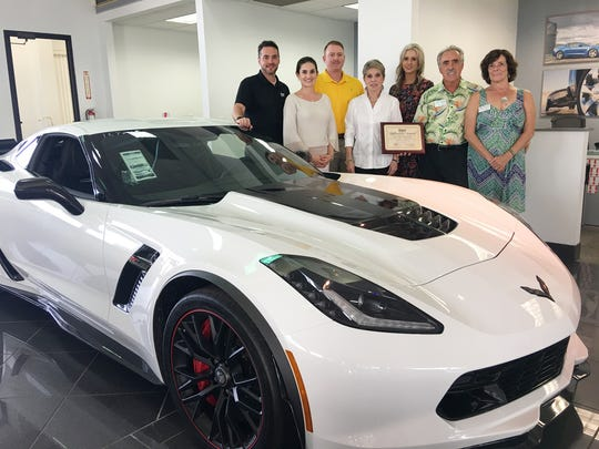 The November Dyer Difference Award for Indian River County recognizes the Rotary Club of Sebastian. Pictured are Dyer Chevrolet, Mazda, Subaru staff members Jonathan Hardie, Tatiana and Will Dyer and Rotary Club members Donna Keys, Allison Coughley, Jim Bellanger and Carolyn Plante.