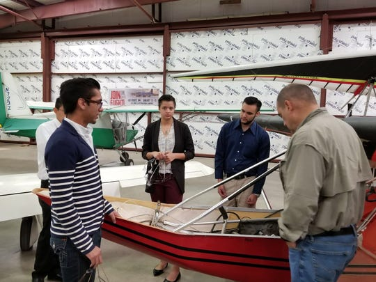 NMSU aerospace engineering students work on their capstone