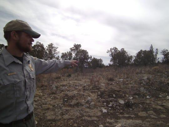 """The posse came over that ridge,"" says John Schultz,"