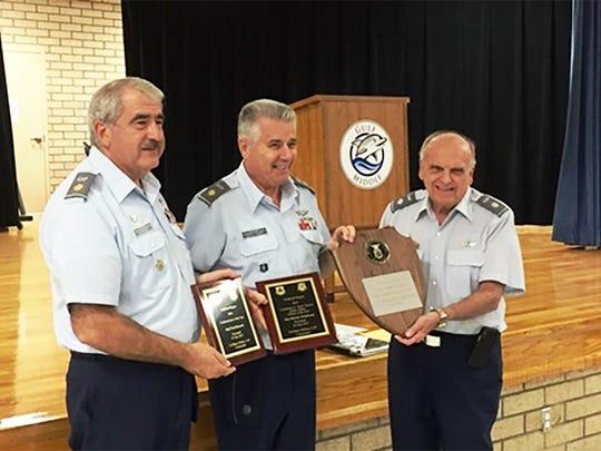 From left, Squadron Commander Major Robert Corriveau, Major Marian Motyl-Szary, and FL Group 5 Commander Lt. Col. Jim Kaletta.