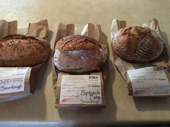 Oat & Honey, Spinach Feta and Alaskan sourdough breads made by One Love Bread located in Petkinstown.