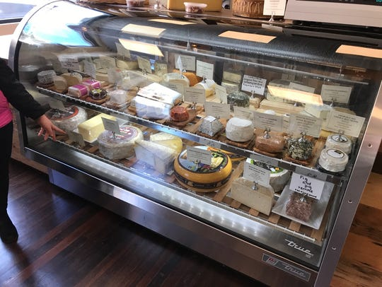 Selection of cheeses at the newly opened Simard & Company