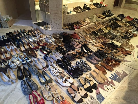 When organizing shoes, not only is it important to inspect the condition of each pair, but it's also important to make sure every shoe has a mate.