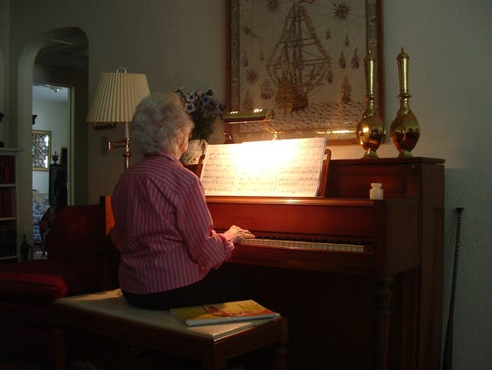 Margaret loves to play the piano.