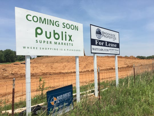 Construction is getting started on Publix and the broader