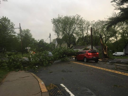Power lines on Route 53 near Tarn Drive in Parsippany