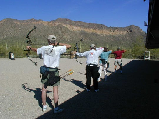 The monthly Archery 101 class at Usery Mountain Regional