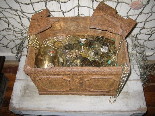 The Pitchford 1760s treasure chest on display at the Stuart Heritage Museum.