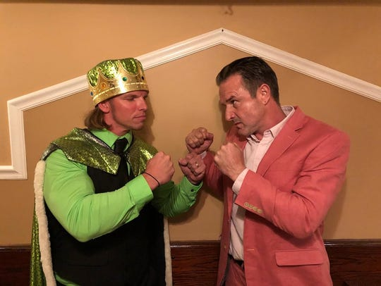 King Brian Anthony, left, will face David Arquette