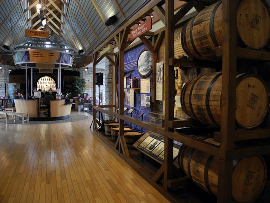 Although the Bourbon Heritage Center at Bardstown is on the Kentucky Bourbon Trail, there is no distillery at the site. Visitors there may tour the barrel rickhouses where the spirits age.