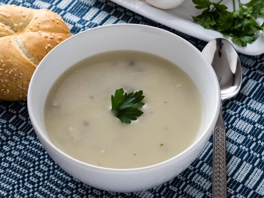 Cauliflower provides a healthy take on cream of mushroom soup, adding rich, creaminess without the fat.
