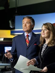 Former WHO-HD anchor John Bachman, shown with Erin