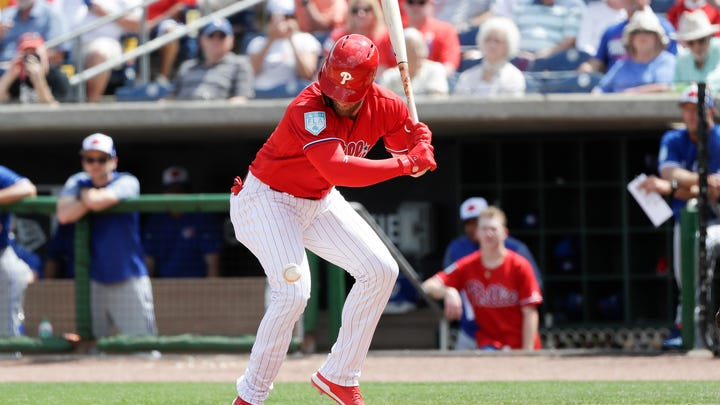 Phillies' Harper 'little sore,' sits out with bruised ankle