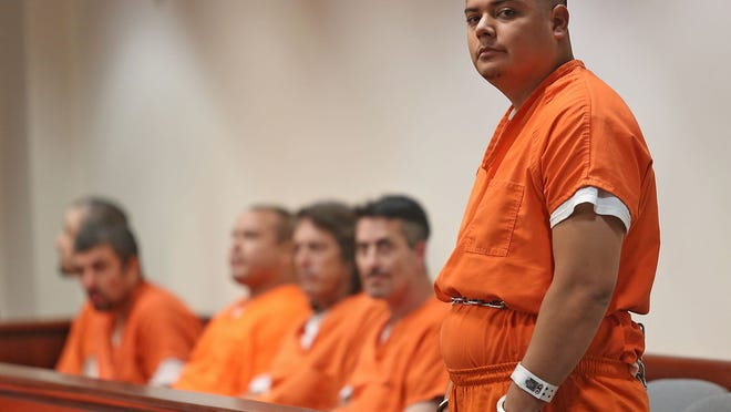 Miguel Ramirez makes a court appearance at the Larson Justice Center for his alleged involvement in the death of Juan Ceballos, Monday, August 11, 2013.