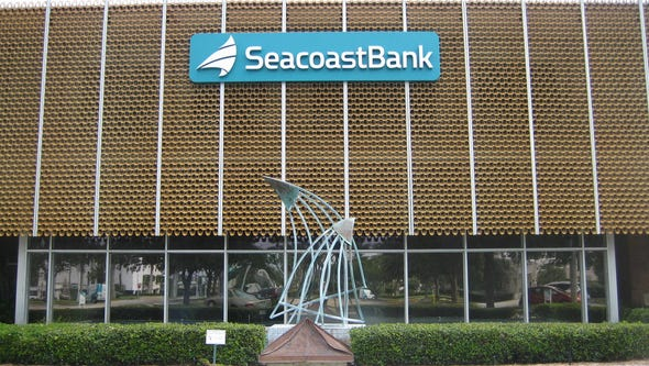 Front of the main headquarters of Seacoast Bank in