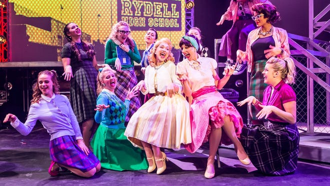 """The ladies of Rydell High School in Studio Tenn's production of """"Grease."""""""