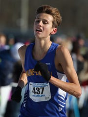 Maine-Endwell's Parker Stokes competes in the Class
