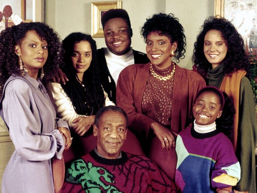 "Premiering in 1984, ""The Cosby Show"" ran for eight seasons and quite simply changed television history. Here's the cast in season six, clockwise from bottom: Bill Cosby as Dr. Heathcliff ""Cliff"" Huxtable, Tempestt Bledsoe, as Vanessa Huxtable, Lisa Bonet as Denise Huxtable Kendall, Malcolm-Jamal Warner as Theodore ""Theo"" Huxtable, Phylicia Rashad as Clair Hanks Huxtable, Keshia Knight Pulliam as Rudy Huxtable and Sabrina Le Beauf as Sondra Huxtable Tibideaux."
