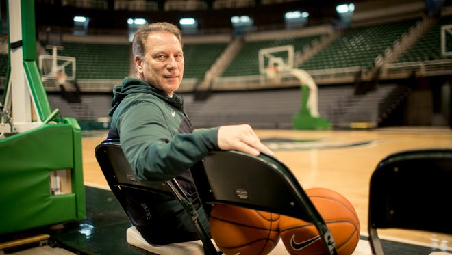 2/17/14 12:59:53 PM -- Lansing, MI  -- Michigan State Spartans men's basketball head coach Tom Izzo in the Breslin Center in East Lansing, Michigan. Photo by Adam R Bird for USA WEEKEND FOR FIRST USE ONLY WITH USA WEEKEND COVER STORY RUNNING MARCH 16, 2014.  FOR ANY OTHER PRIOR USE PLEASE ASK DAVID BARATZ EXT. 4508.