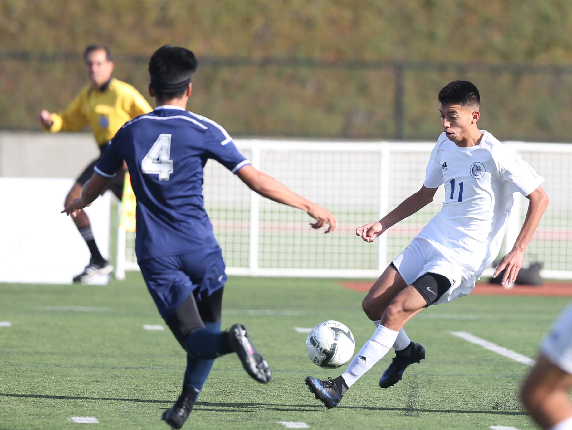 Woodburn's Reggie Reyes was named the Mid-Willamette Conference boys soccer player of the year.