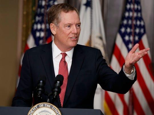 U.S. Trade Representative Robert Lighthizer's office