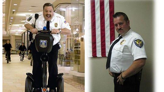 Does Ozark Police Department's Dennt Hall look like Paul Blart?