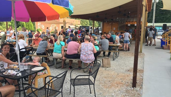 A pig roast at Swamp Rabbit Cafe and Grocery.