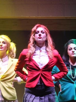 "Mary Mondlock, Melody Wilson and Deanna Giulietti are the title characters in ""Heathers: The Musical"" at White Plains Performing Arts Center through Oct. 23."