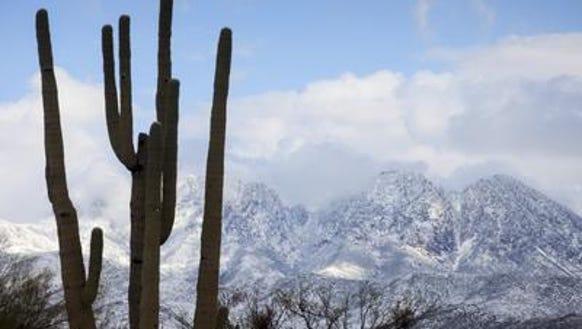 snow four peaks