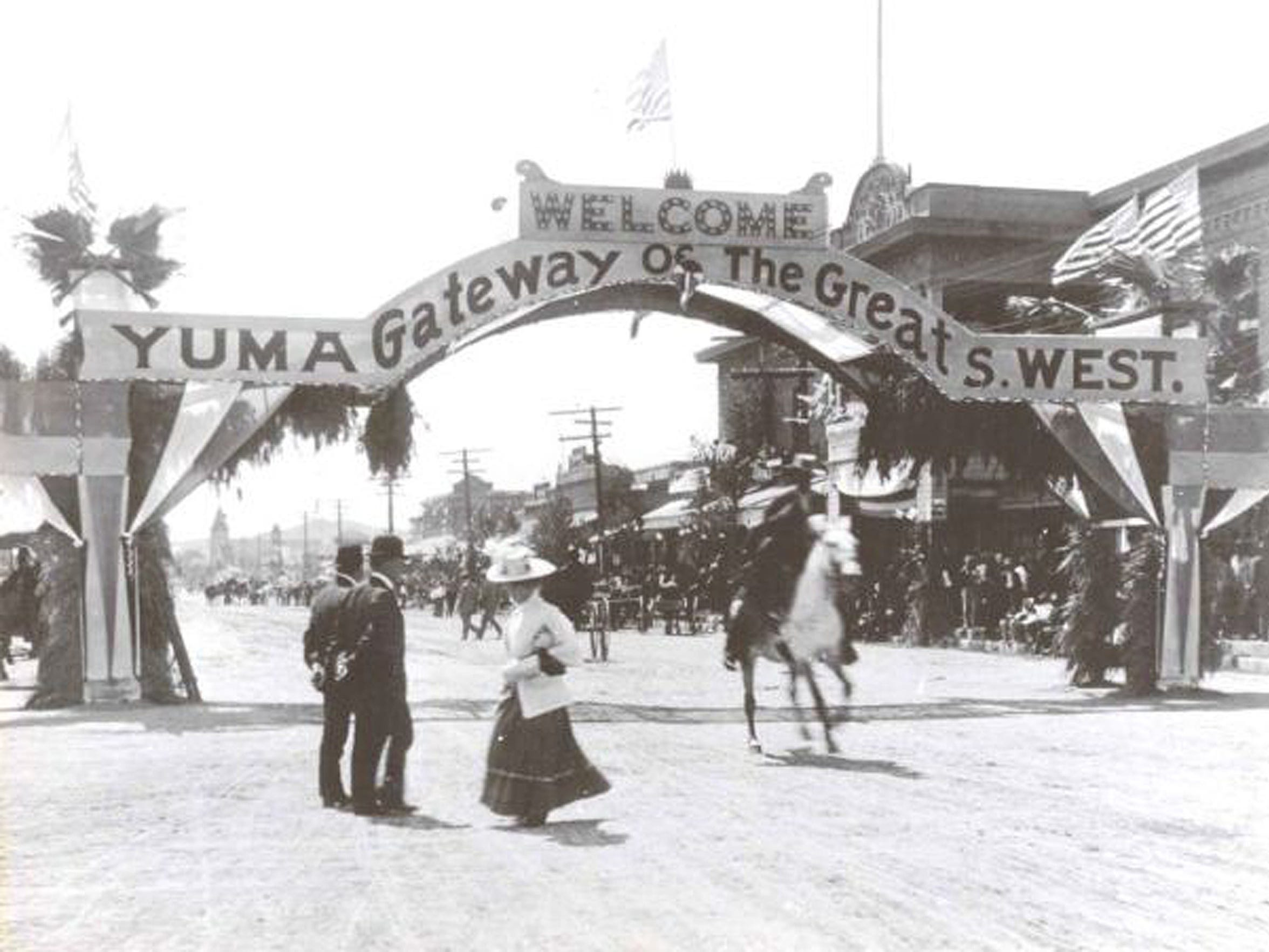 Main Street Yuma circa 1800s.  Credit: Yuma Crossing