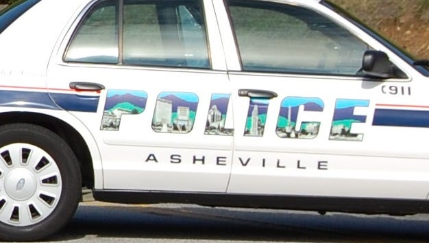 Asheville Police patrol car.