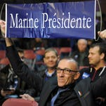 Marine Le Pen supporter at a rally in Henin-Beaumont, France, on Dec.13, 2015.