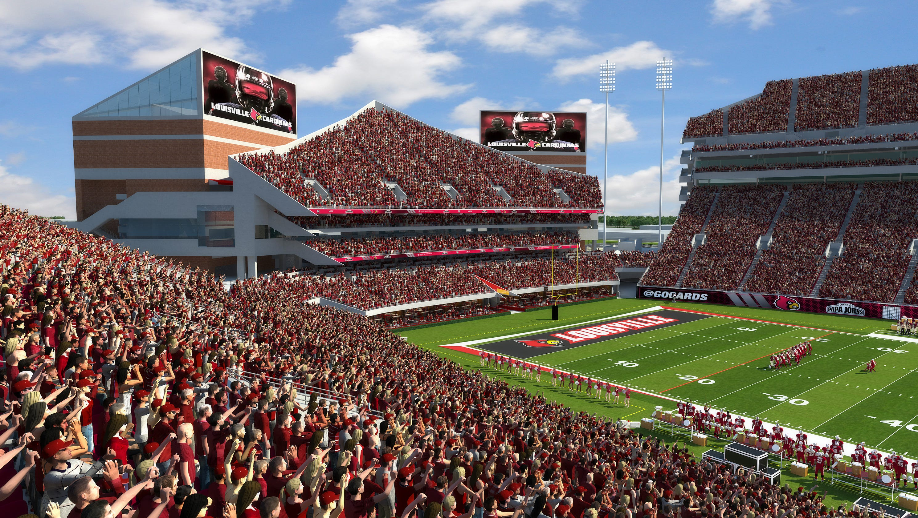 Memorial Day Sales Cars >> Louisville football expansion project on pace for 2018 completion after strong sales of suites ...