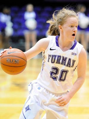 Furman junior Whitney Bunn broke the school record for career assists during the Paladins' 85-71 win over UNC Greensboro Thursday.