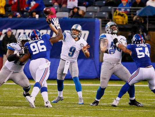 NFL: Detroit Lions at New York Giants