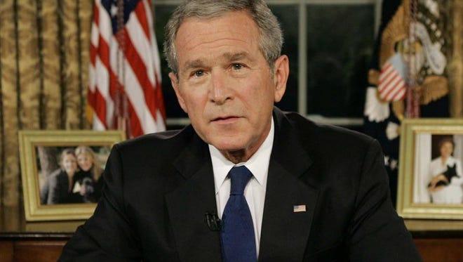 Former president George W. Bush.