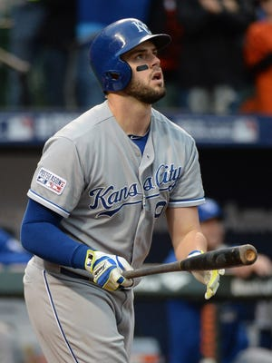 Royals third baseman Mike Moustakas has hit four home runs in six postseason games.