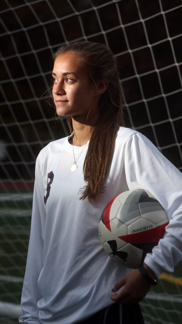 Albertus Magnus senior soccer player Danielle LaRochelle, photographed Nov. 9, 2017 is the Rockland scholar-athlete.