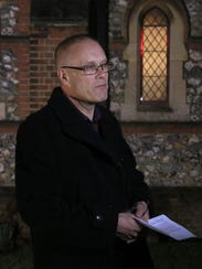 David Hill, father of Jason and Stuart, at the memorial
