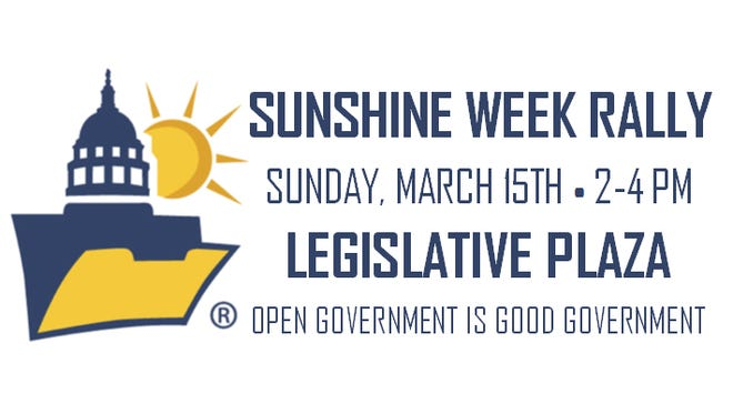 The Tennessean to host Sunshine Week rally on March 15, 2-4 pm at Legislative Plaza.