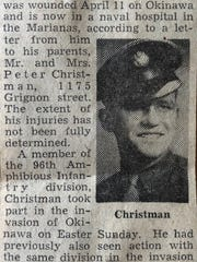 A Green Bay Press-Gazette article reported on Christman's