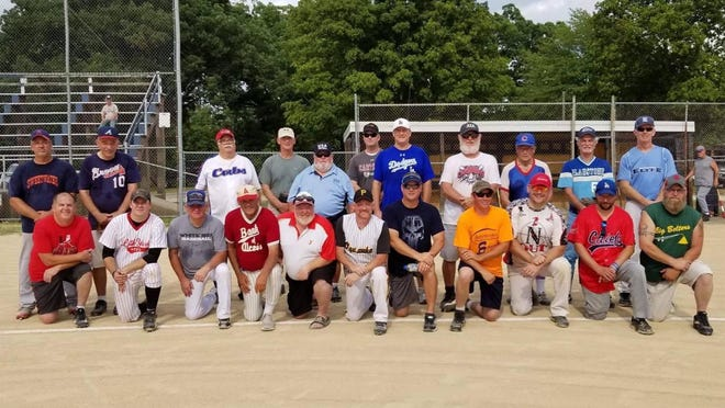 Pictured are the players who participated in last year's Old Timers Game at Monmouth Park. The 83rd annual game will be played Aug. 9, with the first pitch scheduled at 5 p.m.
