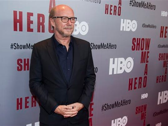 "Paul Haggis attends a special screening of HBO's ""Show Me A Hero"" miniseries at The New York Times Center on Tuesday, Aug. 11, 2015, in New York."