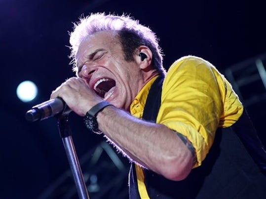 David Lee Roth of Van Halen performs at the Irvine Meadows Amphitheatre on Tuesday, July 14, 2015, in Irvine, Calif.