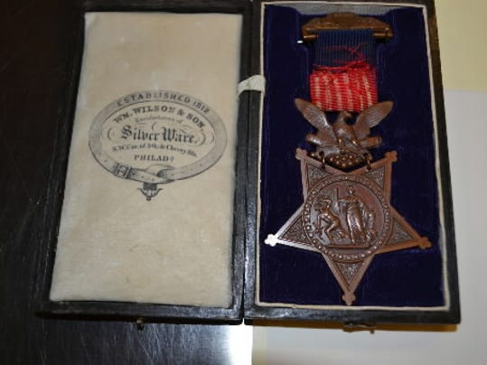 Color Sgt. Daniel P. Reigle, of Littlestown, received this Medal of Honor from President Lincoln for his gallantry at Cedar Creek.  It is now the the National Park Service collection at the Gettysburg Museum and Visitor Center.