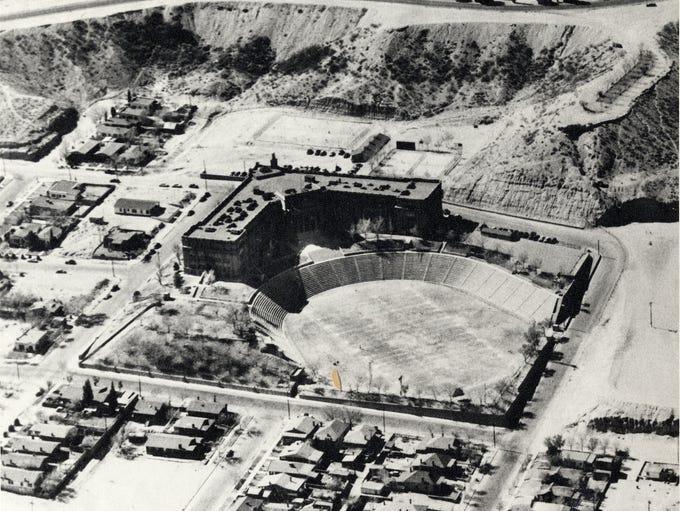An aerial view of El Paso High School.