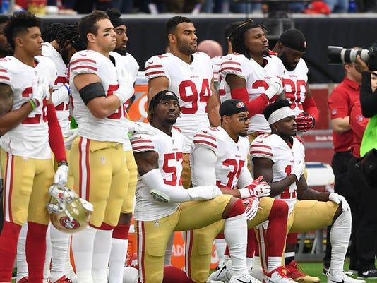 USP NFL: SAN FRANCISCO 49ERS AT HOUSTON TEXANS S FBN HOU SF USA TX