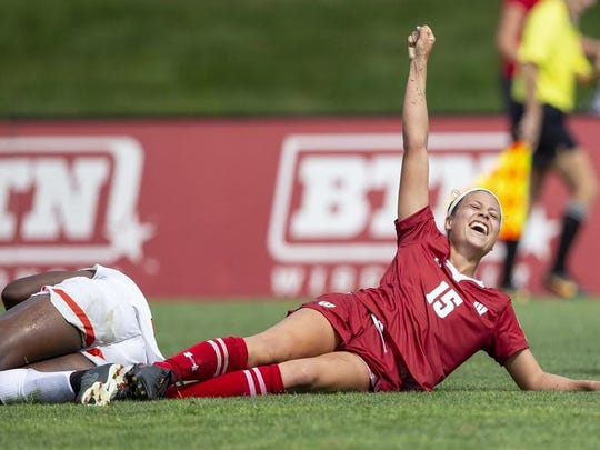Dani Rhodes had a big year for the Wisconsin soccer team.